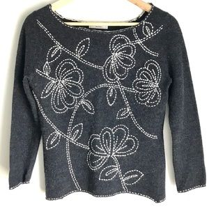Gray Sweater Japan Netto di Mammina Embroidered S